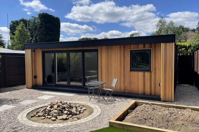 Large cedar clad garden room